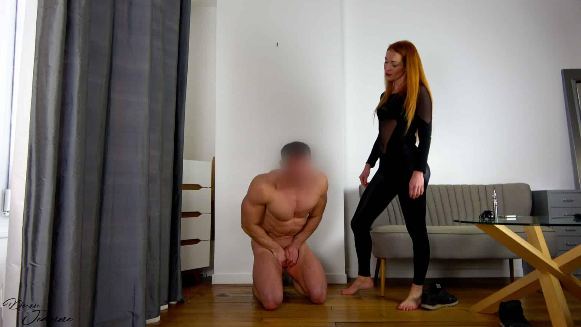 vidéo ballbusting de soumission du mâle alpha