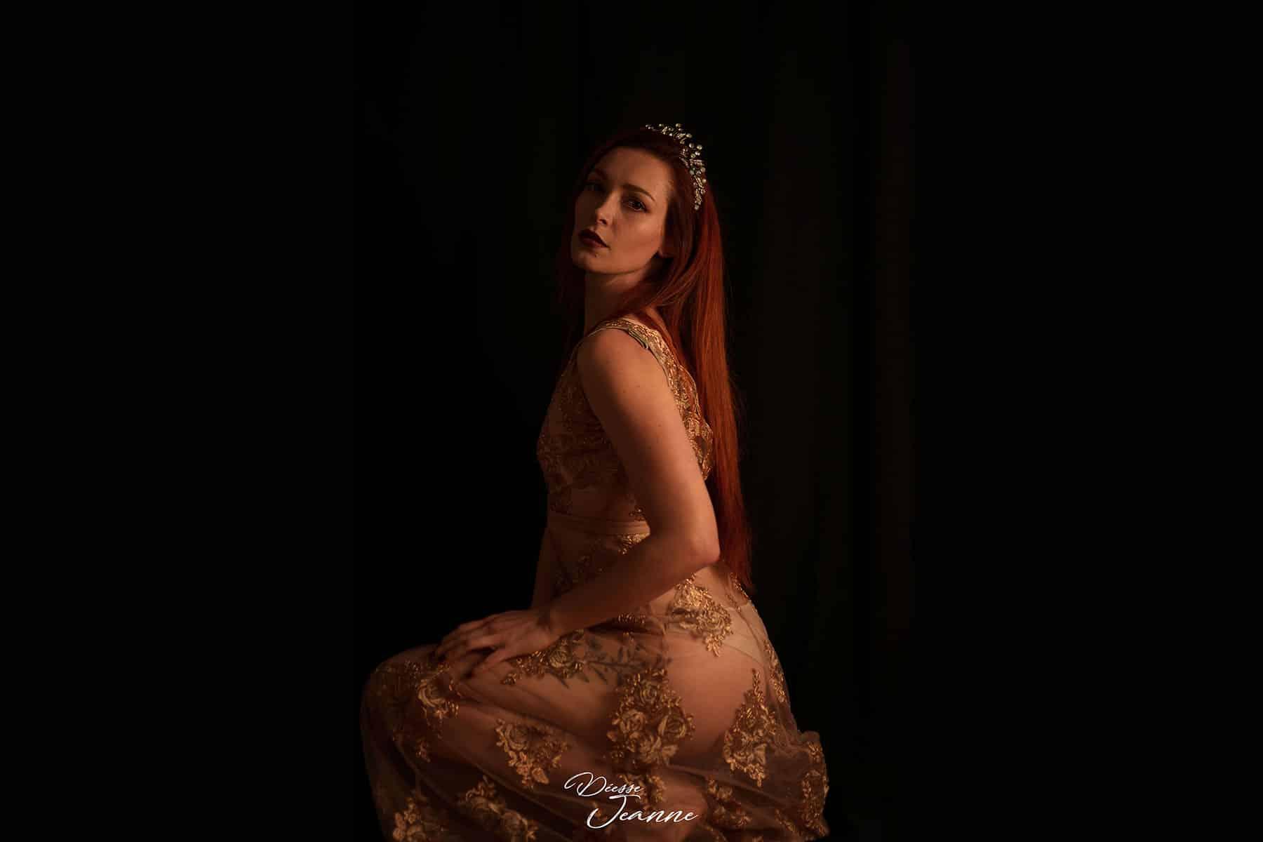 french goddess redhead