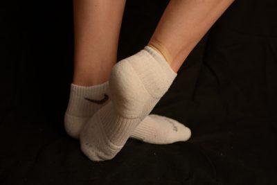 Fétichisme chaussettes de sport femme