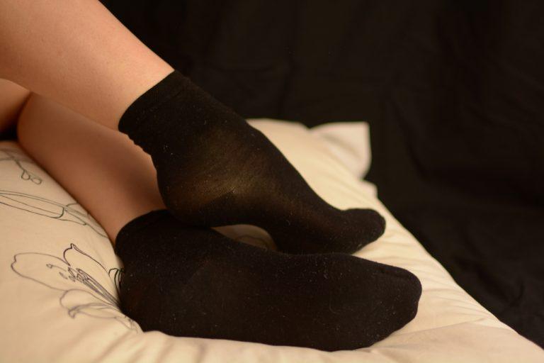 chaussettes noires sales