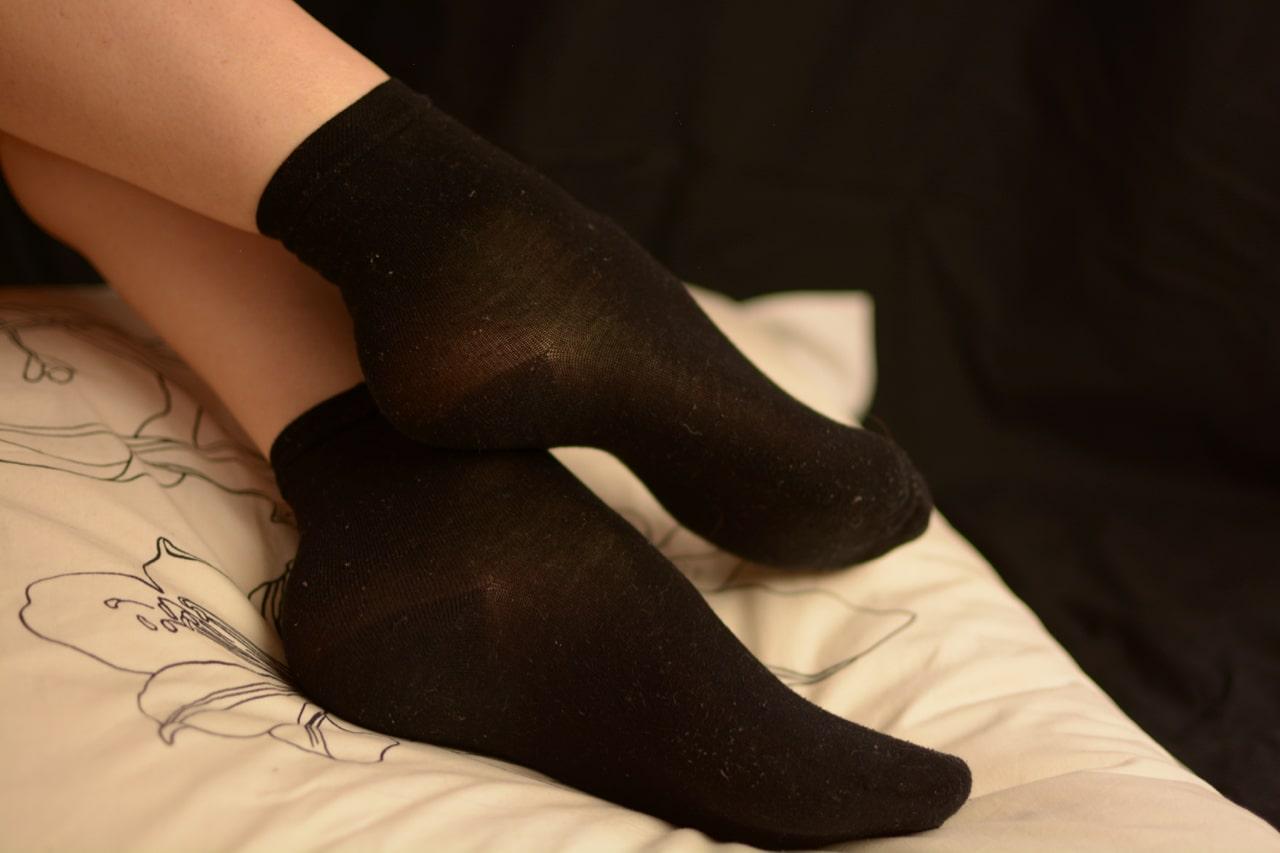 fétichiste chaussettes sales noires