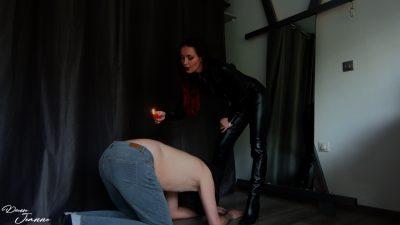 punition à la cire maîtresse sadique